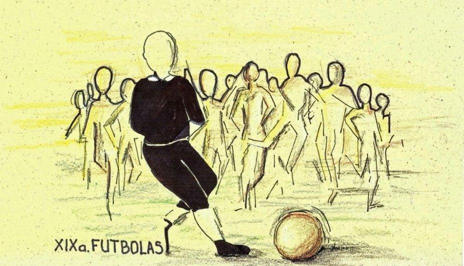 """XIX a. """"putbalas"""" (futbolas) bus žaidžiamas penktadienį Vilniaus Tymo kvartale."""