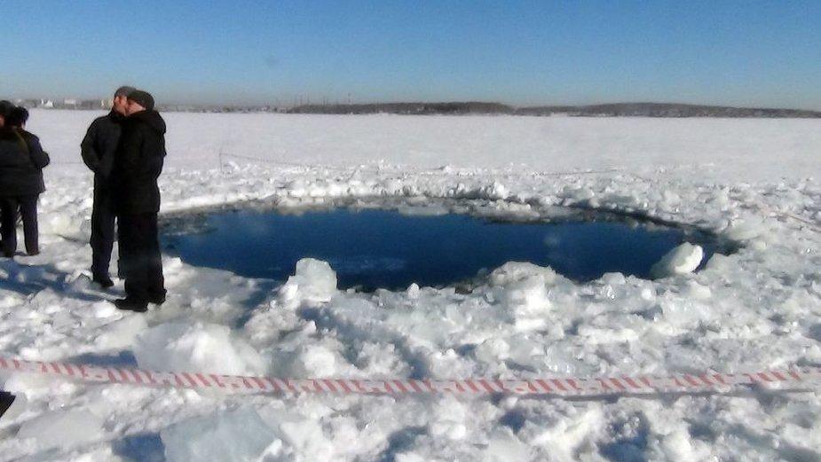 Озеро Чебаркуль в Челябинской области, куда упали обломки метеорита.