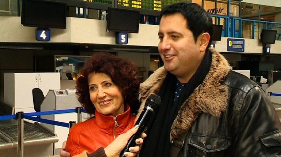 Rytis Cicinas su mama Rasa