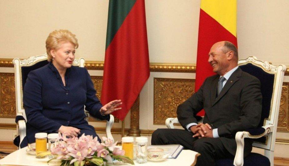 Dalia Grybauskaitė susitiko su Rumunijos Prezidentu Traianu Basescu