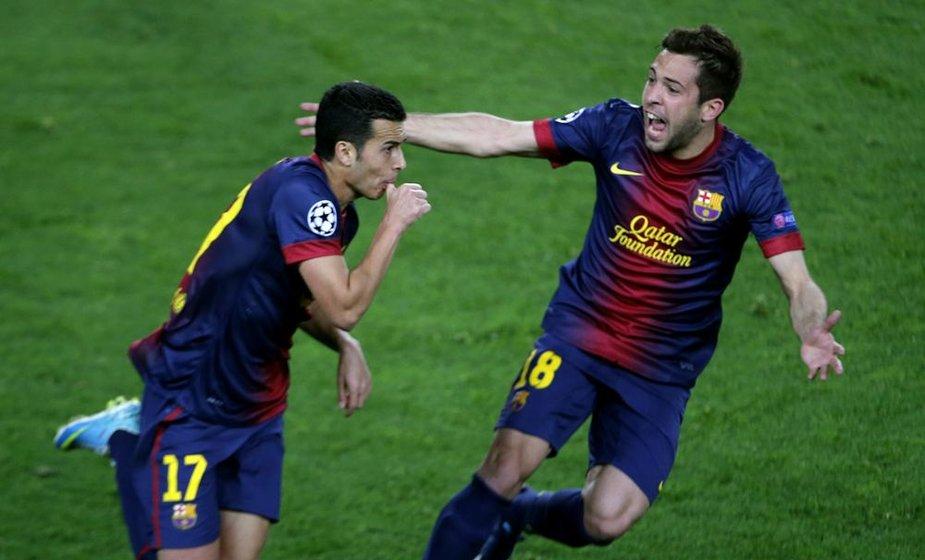 Pedro ir Jordi Alba.