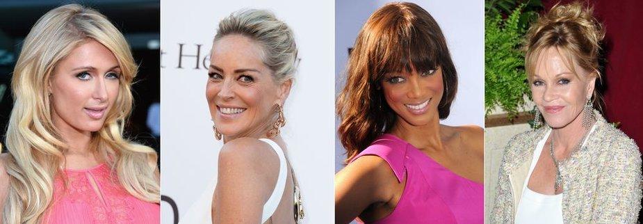 Paris Hilton, Sharon Stone, Tyra Banks, Melanie Griffith