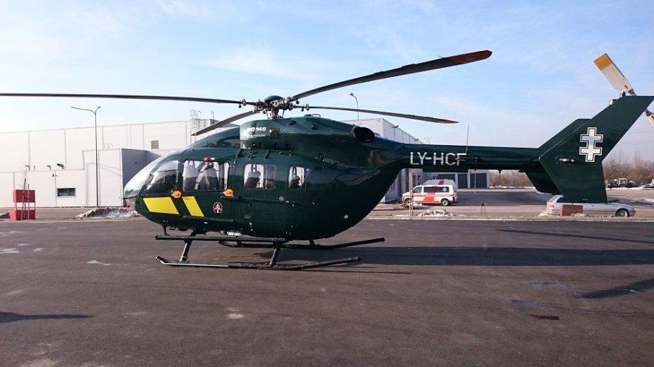 VSAT sraigtasparnis iš Kauno į Vilnių gabena donoro organus