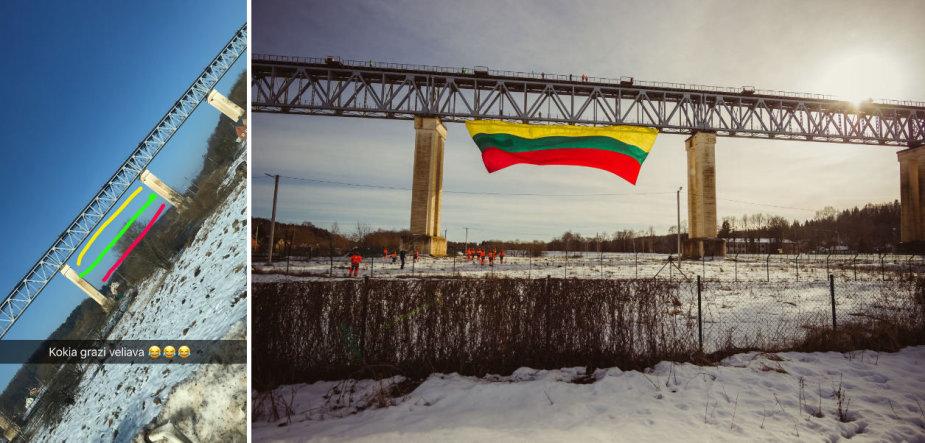 Skaitytojas pasigedo vėliavos ant Lyduvėnų tilto