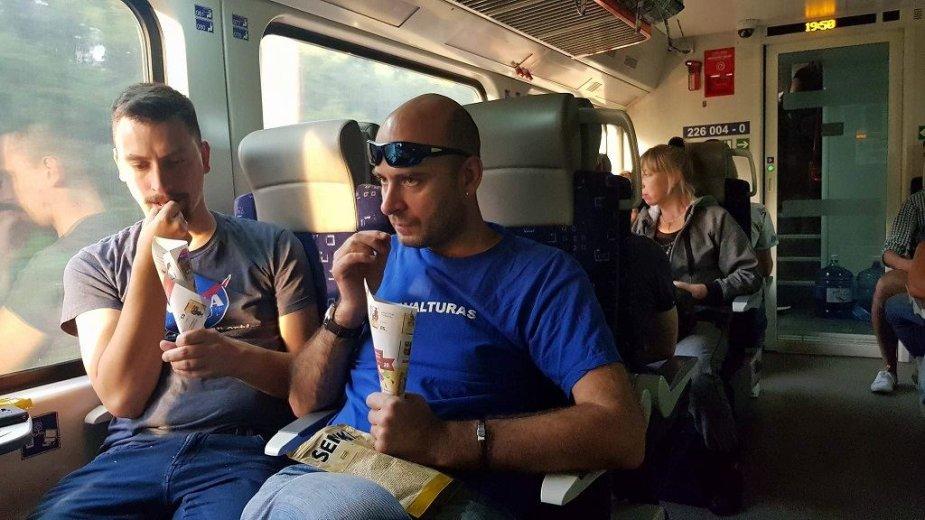 Saulėgrąžos Ukrainos traukinyje