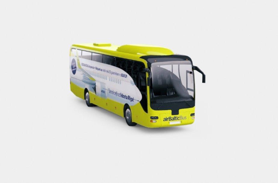 """""""airBaltic"""" autobusas"""