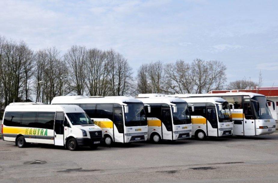"""Nauji susisiekimo bendrovės """"Kautra"""" autobusai"""