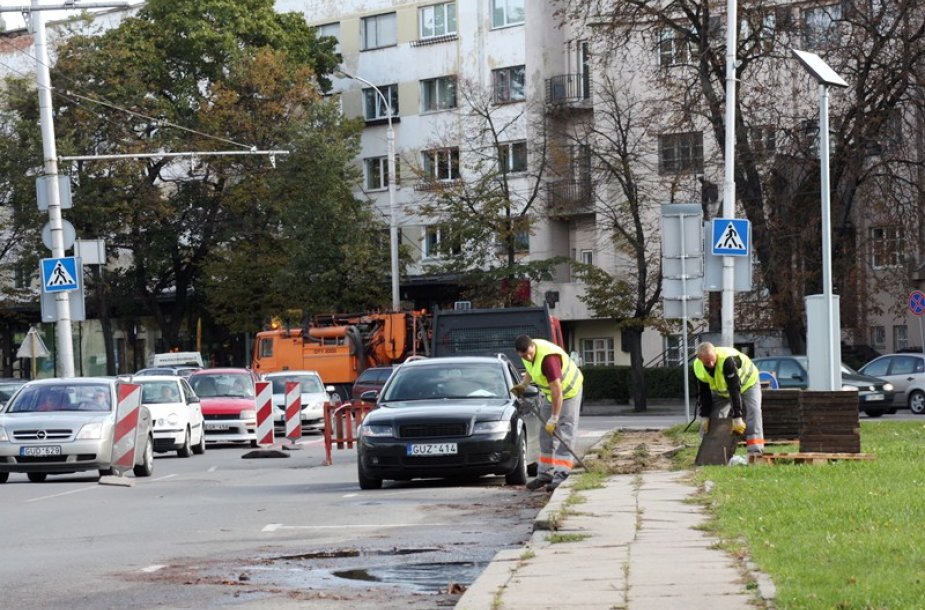 Gatvės remontas Kaune