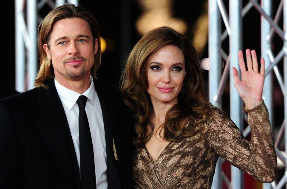 Angelina Jolie ir Bradas Pittas – 50 mln. JAV dolerių