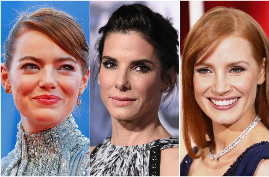 Emma Stone, Sandra Bullock, Jessica Chastain