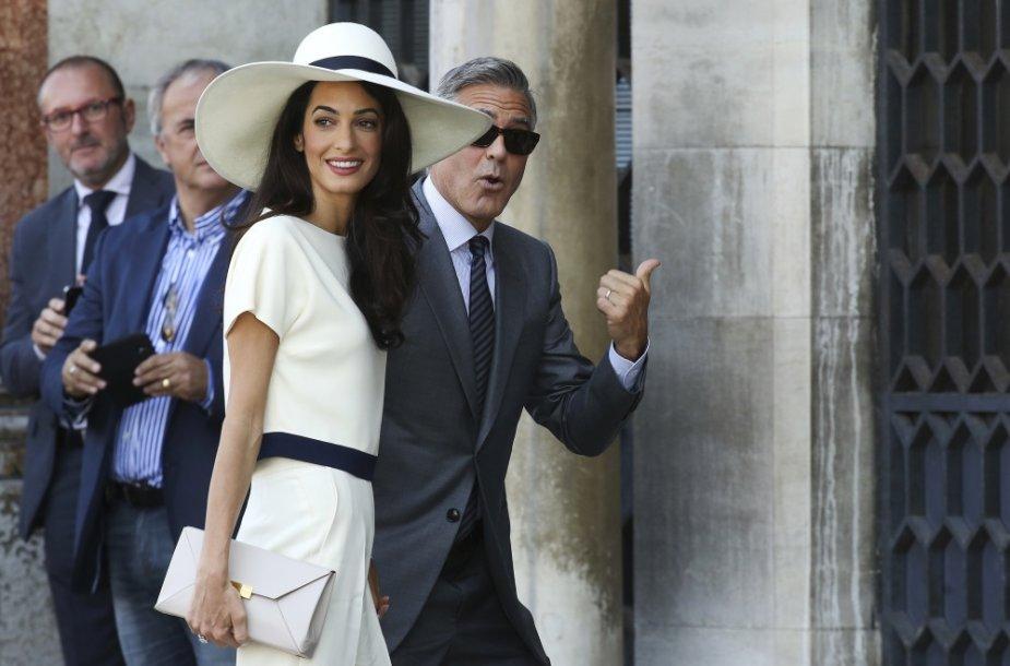 George'as Clooney ir Amal Alamuddin
