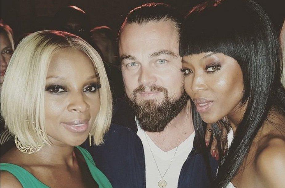 Mary J.Blige, Leonardo DiCaprio ir Naomi Campbell