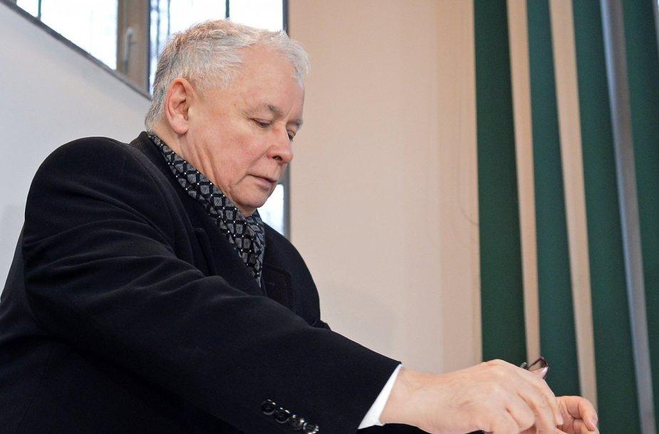 Jaroslawas Kaczynskis rinkimuose