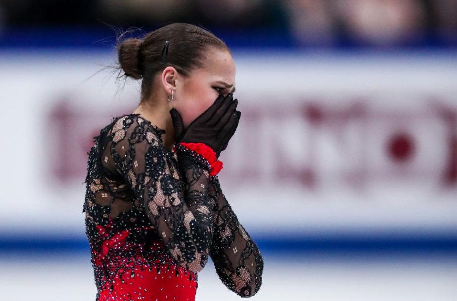 Alina Zagitova laimėjo pirmą aukso medalį pasaulio čempionate