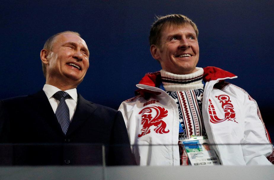 Aleksandras Zubkovas ir Vladimiras Putinas