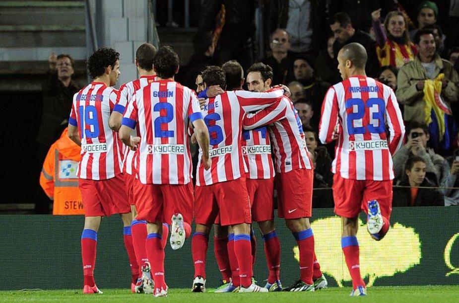 "Madrido ""Atletico"" futbolininkai."