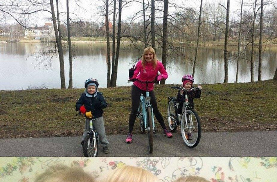 Vlada Musvydaitė su vaikais