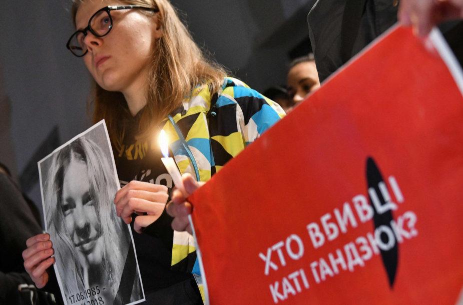 Protestas prie Ukrainos vidaus reikalų ministerijos
