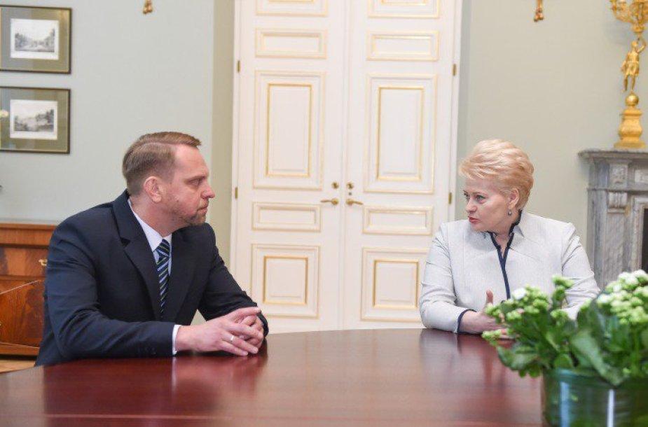 Nerijaus Meilučio susitikimas su Dalia Grybauskaite