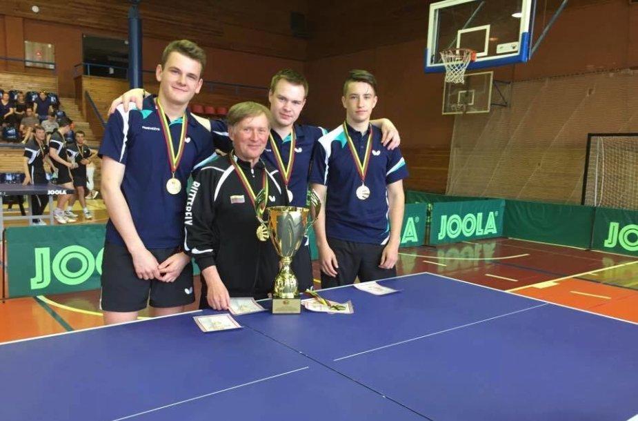 Šeštadienį vyks Lietuvos komandinio stalo teniso čempionato vyrų finalai.