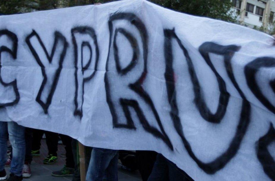 Protestuotojai Kipre