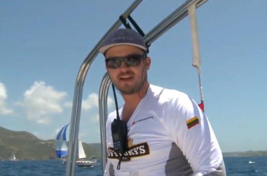 """Domas Vyšniauskas, """"Švyturys Challenger Sailing"""" kapitonas"""