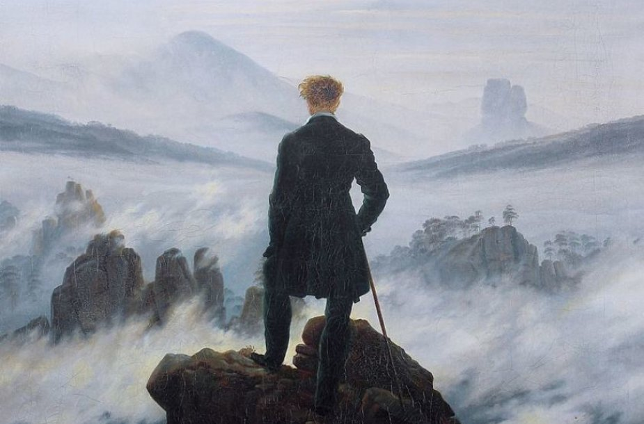 "Caspar David Friedrich ""Wanderer Above the Sea of Fog"""