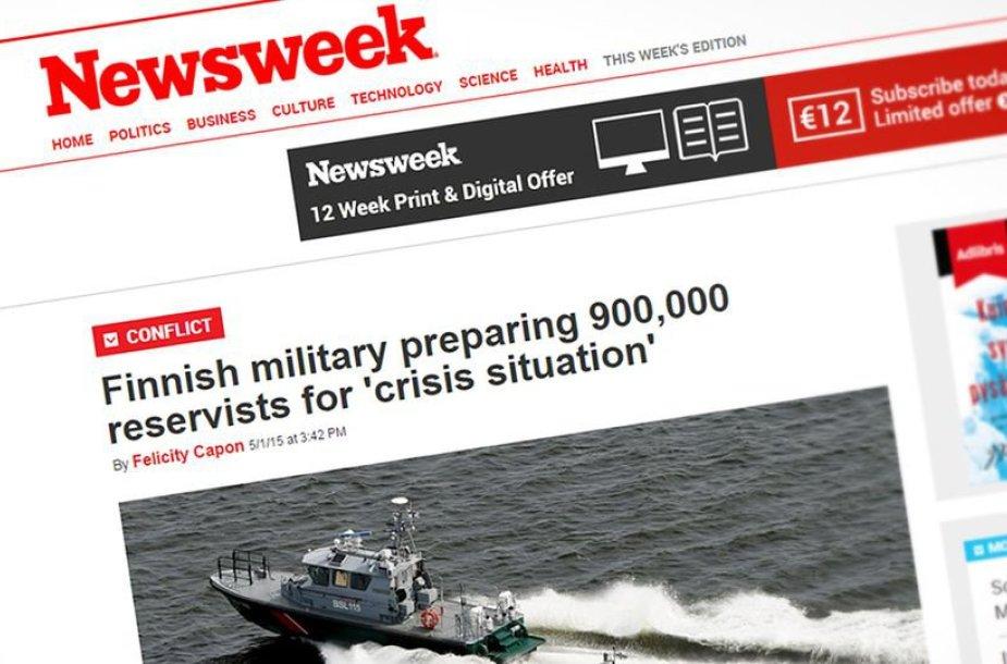 """""""Newsweek"""" straipsnis apie Suomijos rezervistus"""