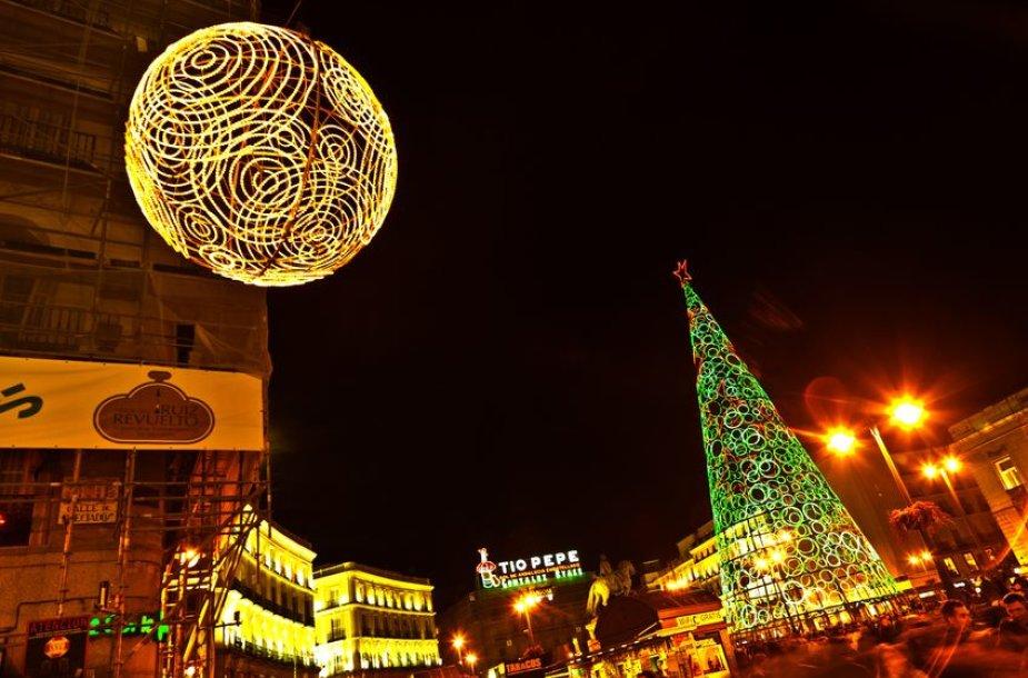 linksmybės Puerta del Sol aikštėje