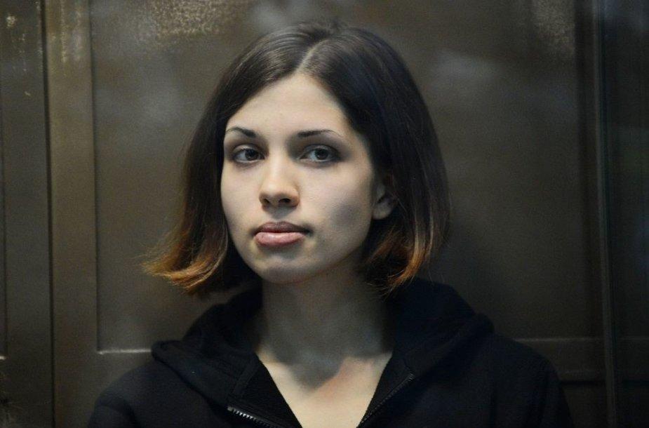 """Pussy Riot"" grupės narė Nadežda Tolokonikova"
