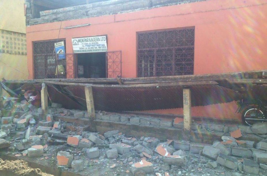 Žemės drebėjimo padariniai Tanzanijoje
