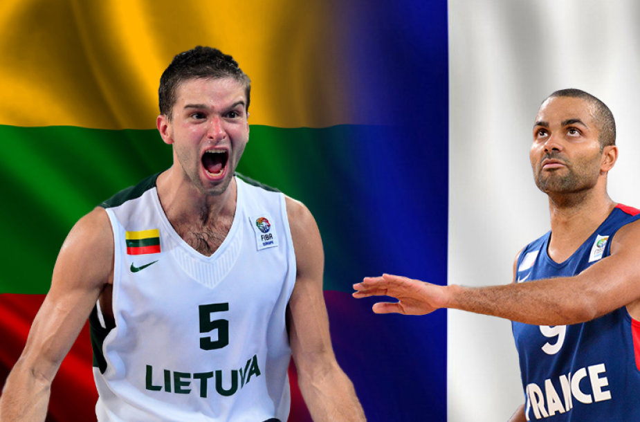 Mantas Kalnietis (Lietuva) ir Tony Parkeris (Prancuzija)