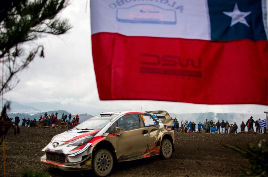 WRC Čilės etape nugalėjo Ottas Tanakas