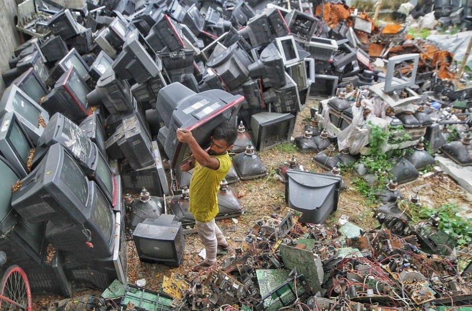Elektronikos atliekos.