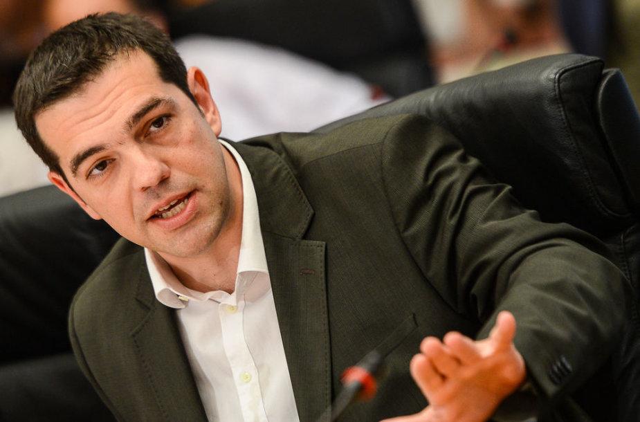 """Graikijos radikalios kairiųjų partijos """"Syriza"""" lyderis Alexis Tsipras"""