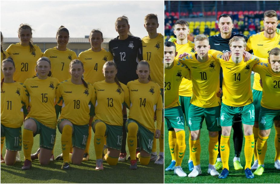 Lietuvos ir moterų futbolo rinktinės