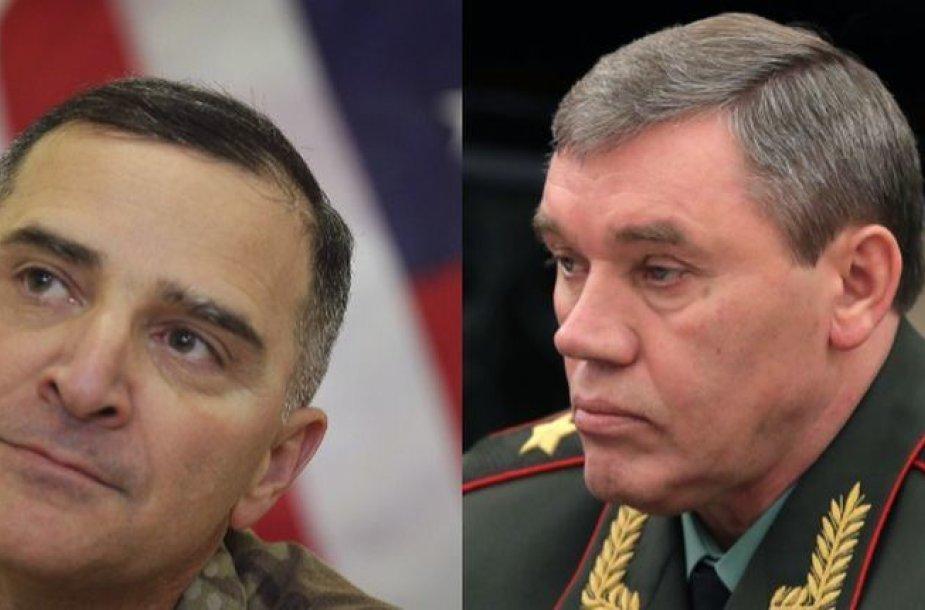 C.Scaparrotti ir V.Gerasimovas (dešinėje)