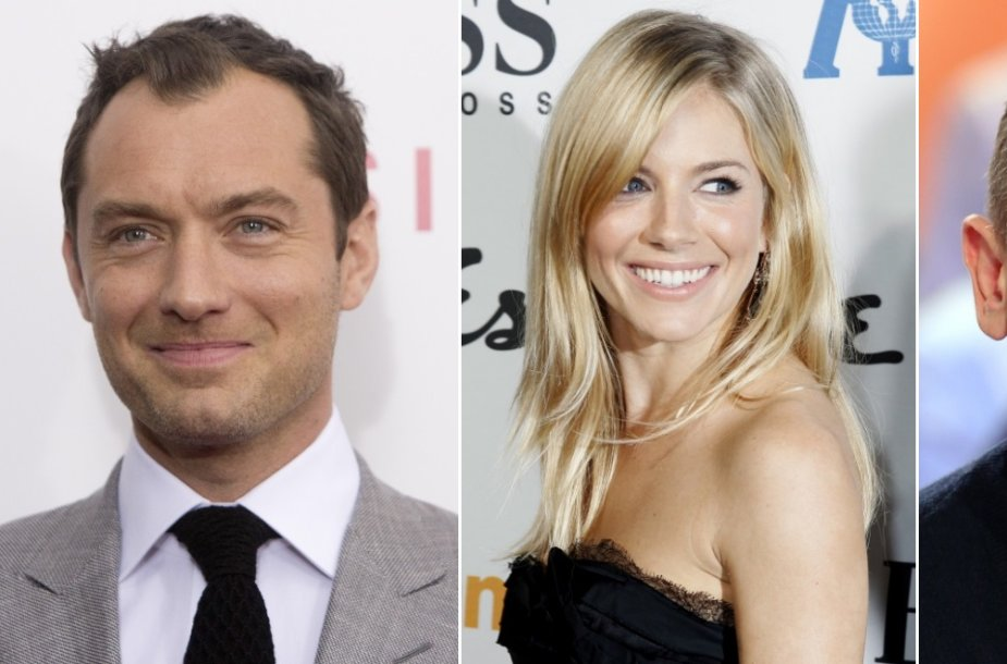 Jude'as Law, Sienna Miller ir Danielis Craigas
