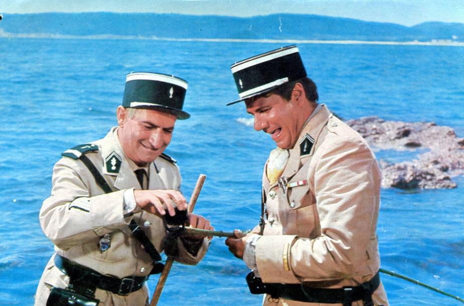 "Louis de Funesas ir Michelis Galabru filme ""Žandaras iš Sen Tropezo"" (1964 m.)"