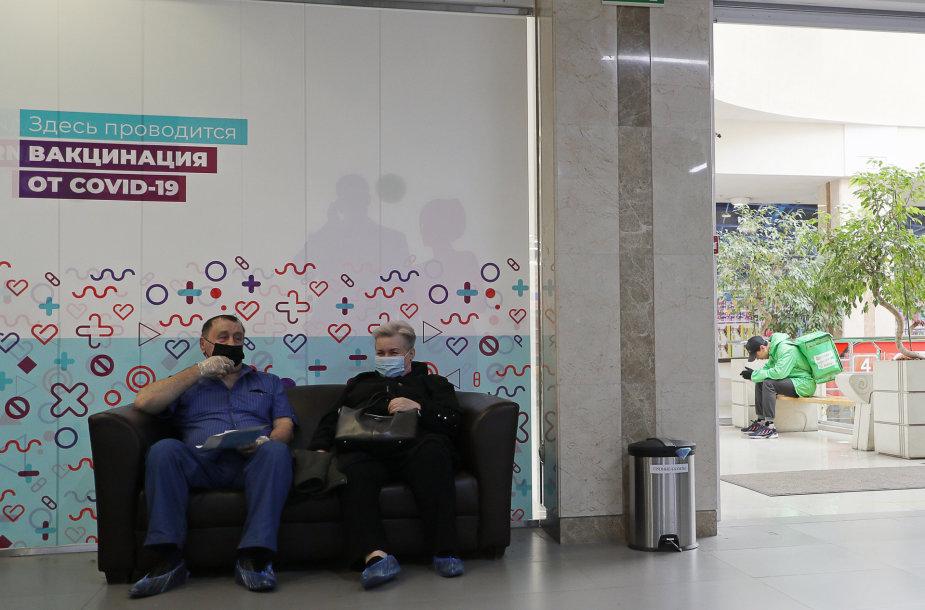 Rusijoje skiepijimas nuo koronaviruso vangus