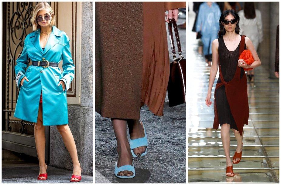 """Iš kairės: Tinklaraštininkė Xenia Adonts, """"Rejina Pyo"""" ir """"Bottega Veneta"""" modeliai"""