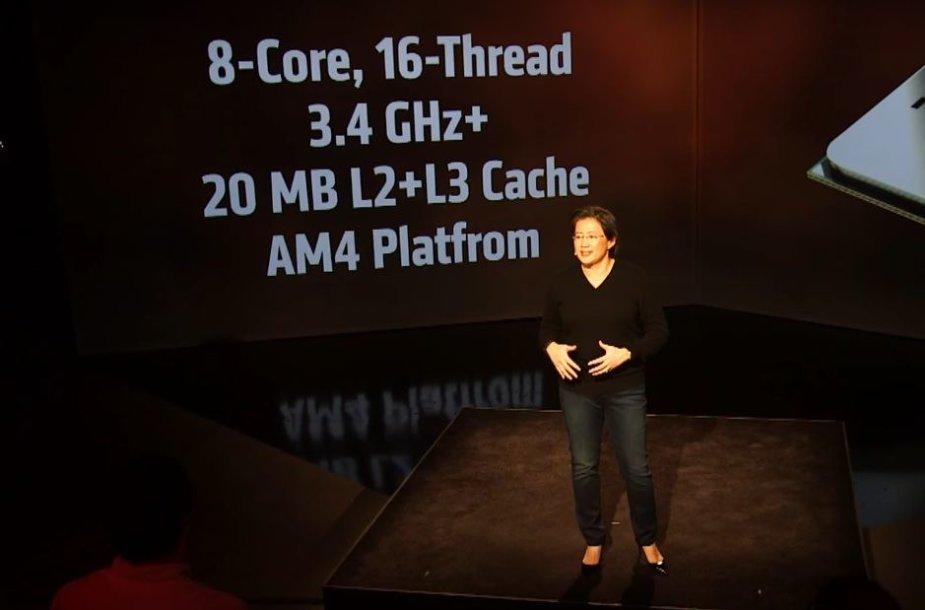 """AMD """"Ryzen"""" procesorių linijos pristatymas"""