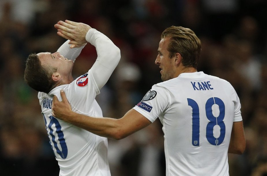 Wayne'as Rooney ir Harry Kane'as