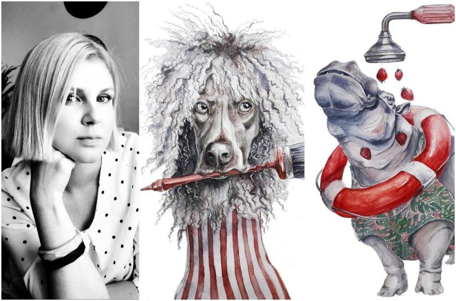 Inga Šimonytė-Deniz ir jos tapybos darbai