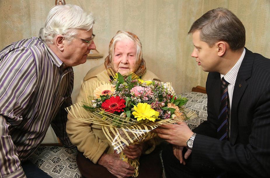 110 metų jubiliejų švenčianti Ona Bacevičienė