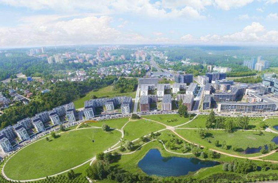 Šiandien gyvenvietę su patogia infrastruktūra ir žaliuojančiu parku drąsiai vadiname populiaria ir vertinama pirkėjų.