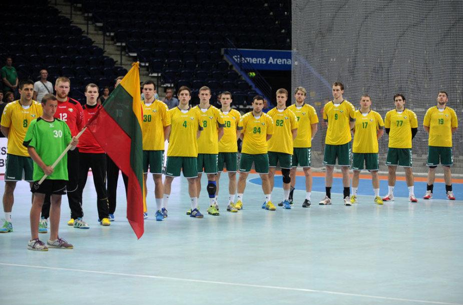 Lietuvos vyrų rankinio rinktinė pralaimėjo dvikovą olimpinei čempionei Prancūzijai