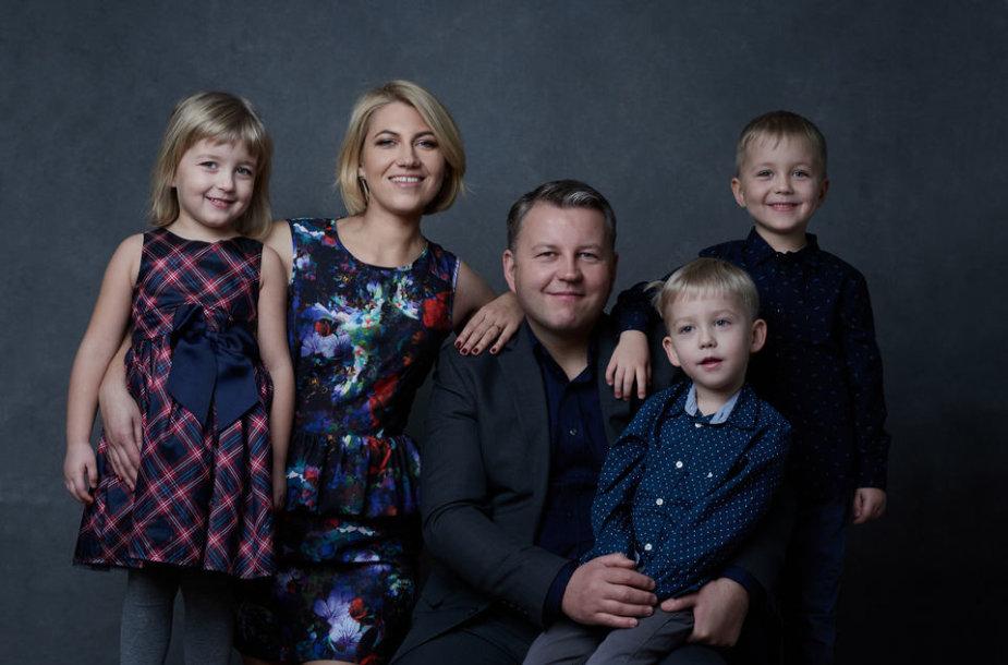 Laura Kuprytė su šeima.