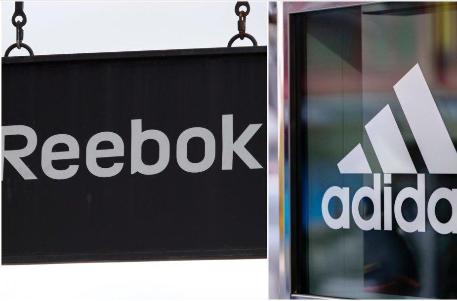 """""""Reebok"""" ir """"Adidas"""""""