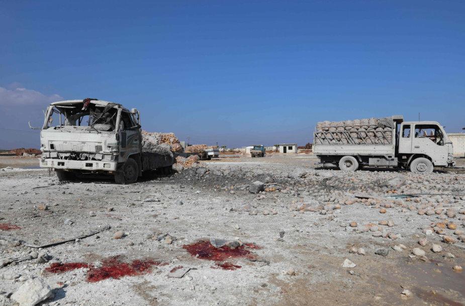 Idlibo provincija po aviacijos atakos